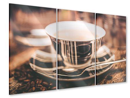 Acrylglasbild 3-teilig Der Kaffee ist fertig