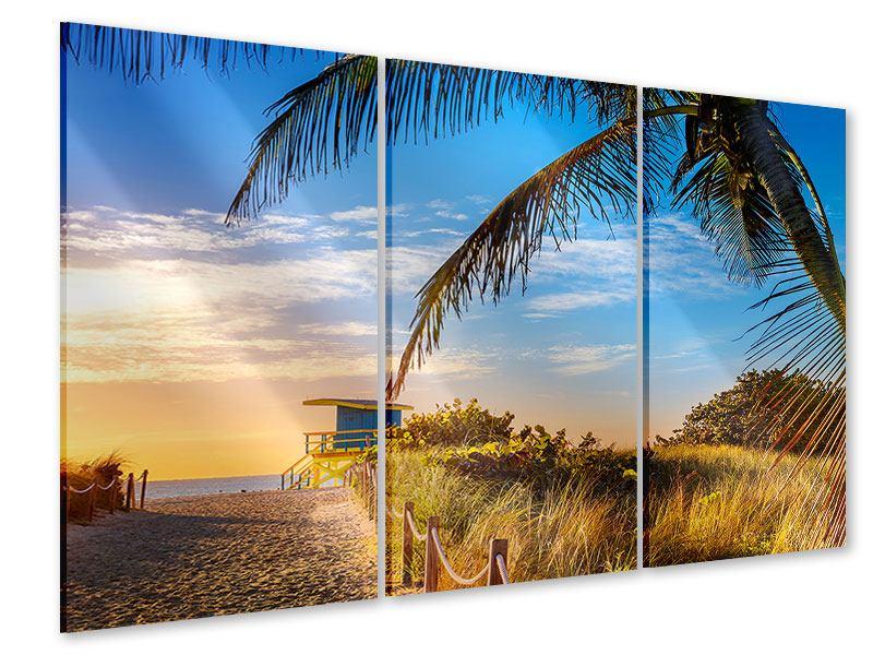 Acrylglasbild 3-teilig Sandkörner