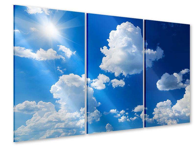 Acrylglasbild 3-teilig Himmelblau