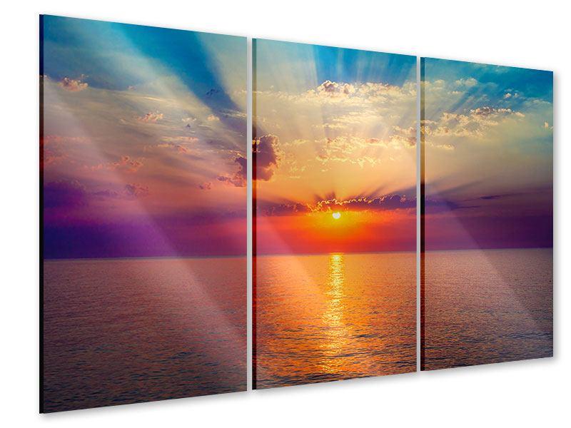Acrylglasbild 3-teilig Mystischer Sonnenaufgang