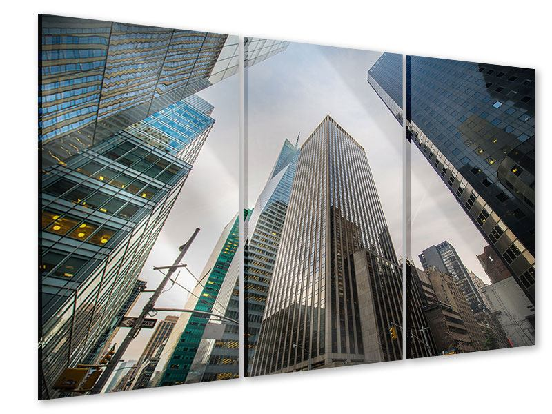 Acrylglasbild 3-teilig Hochhäuser