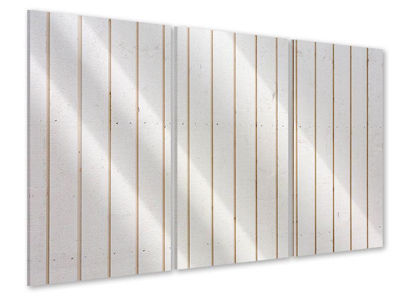Acrylglasbild 3-teilig Mediterranes Holz