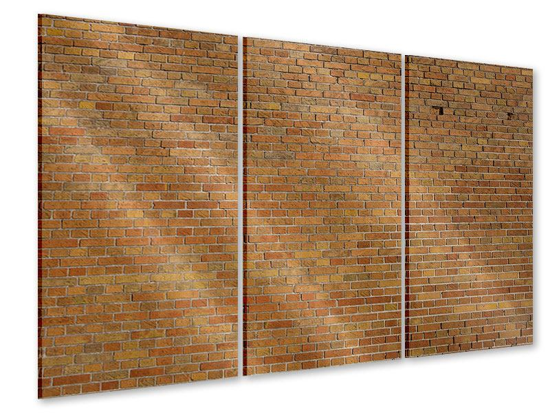Acrylglasbild 3-teilig Backsteinhintergrund