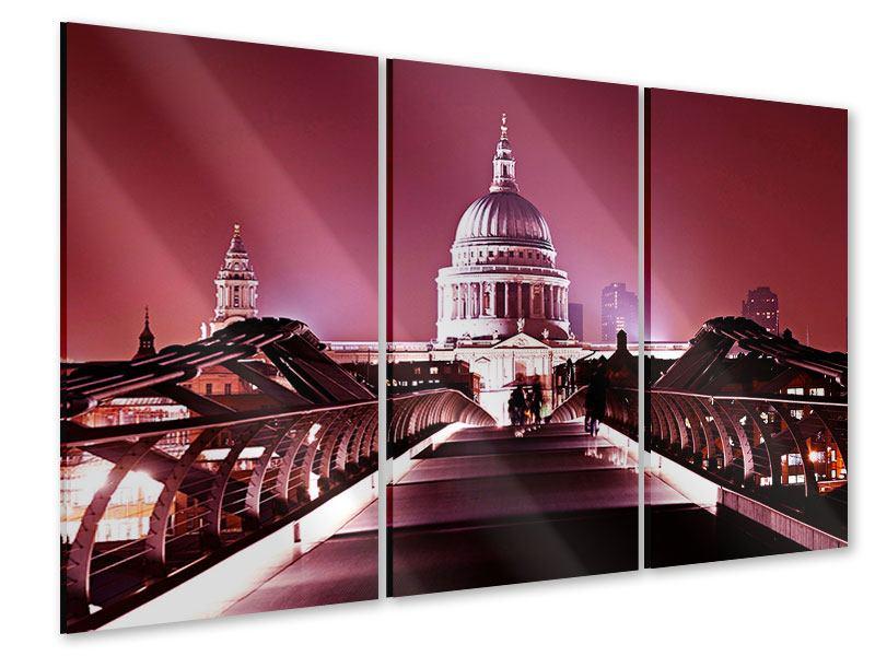 Acrylglasbild 3-teilig Millennium Bridge