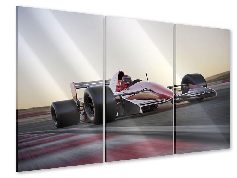 Acrylglasbild 3-teilig Rennstrecke