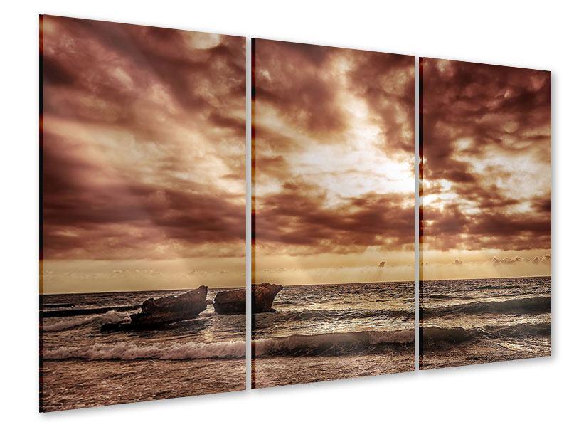 Acrylglasbild 3-teilig Meeresrauschen