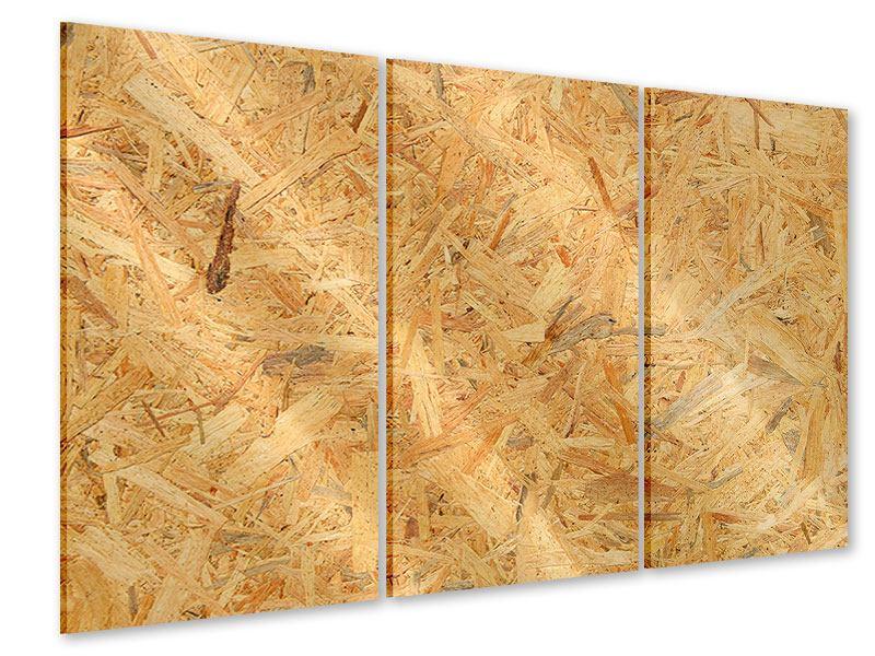 Acrylglasbild 3-teilig Gepresstes Holz