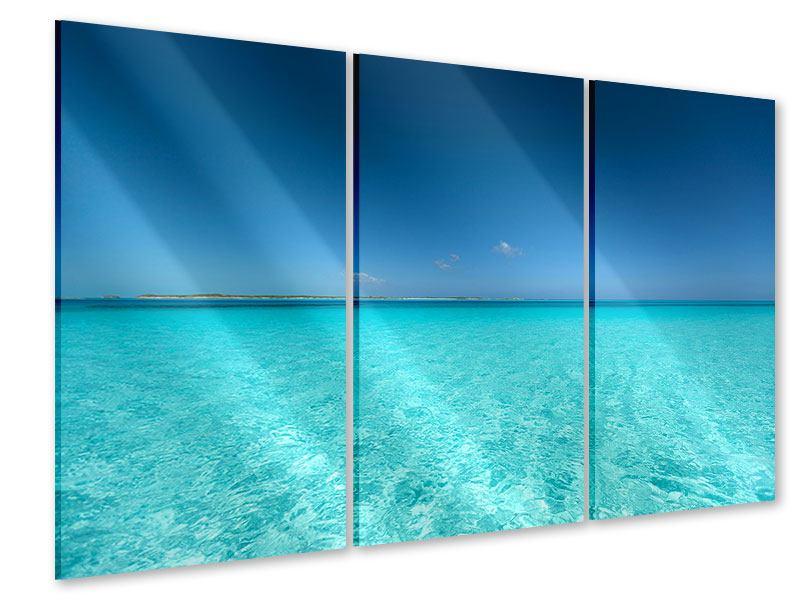 Acrylglasbild 3-teilig Das Meer und Jules Verne