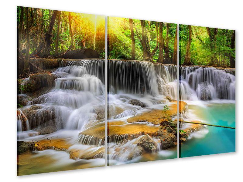 Acrylglasbild 3-teilig Nationalpark Si Nakharin