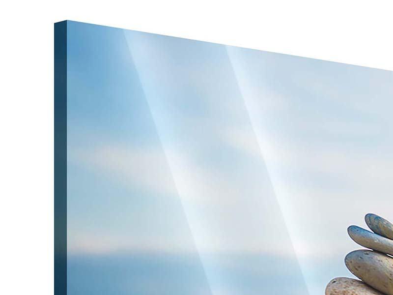 Acrylglasbild 3-teilig Drei Steinstapel