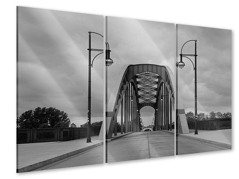 Acrylglasbild 3-teilig Poetische Brücke