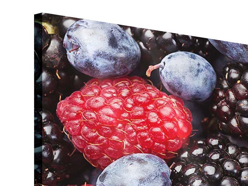 Acrylglasbild 3-teilig Beeren