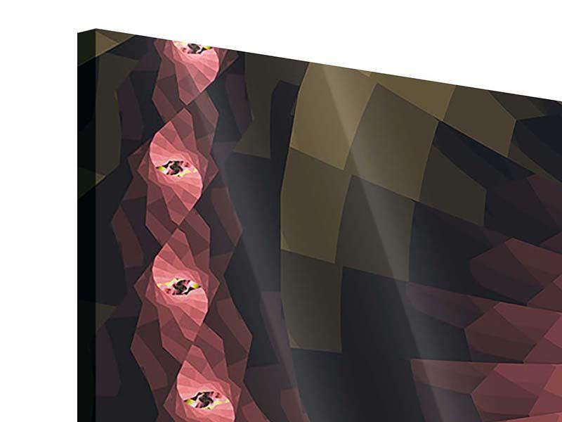 Acrylglasbild 3-teilig Abstrakte Windungen