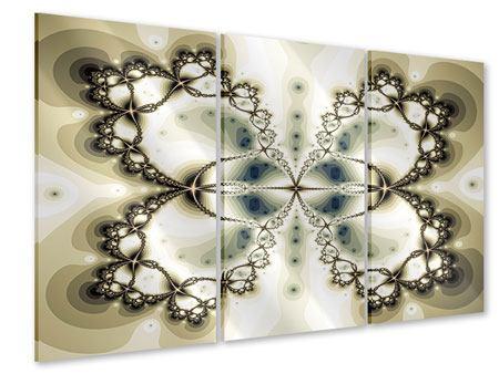 Acrylglasbild 3-teilig Abstrakter Schmetterling