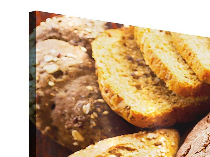 Acrylglasbild 3-teilig Brotsortiment