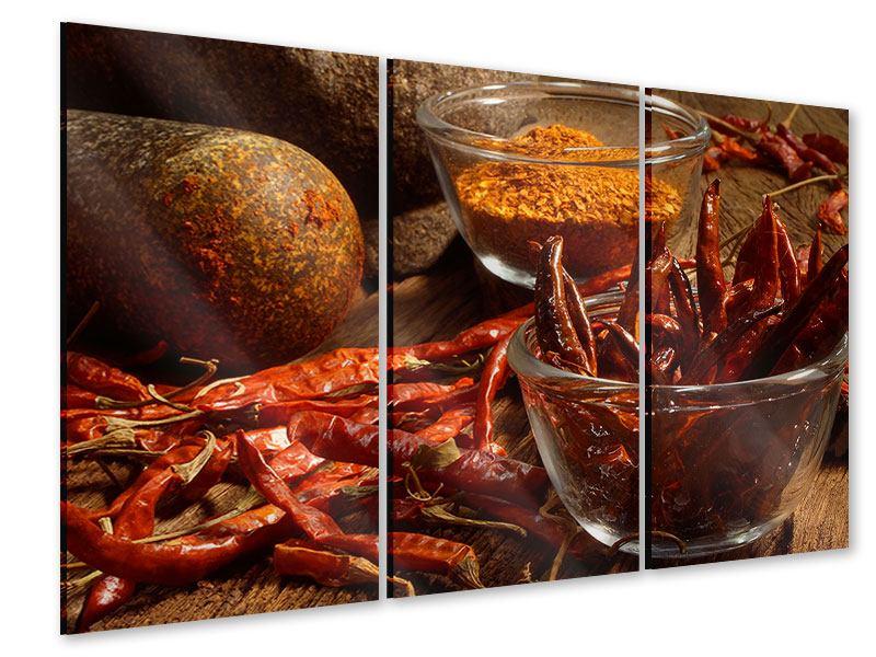 Acrylglasbild 3-teilig Chili