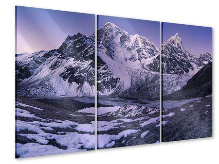 Acrylglasbild 3-teilig Taboche und Cholatse