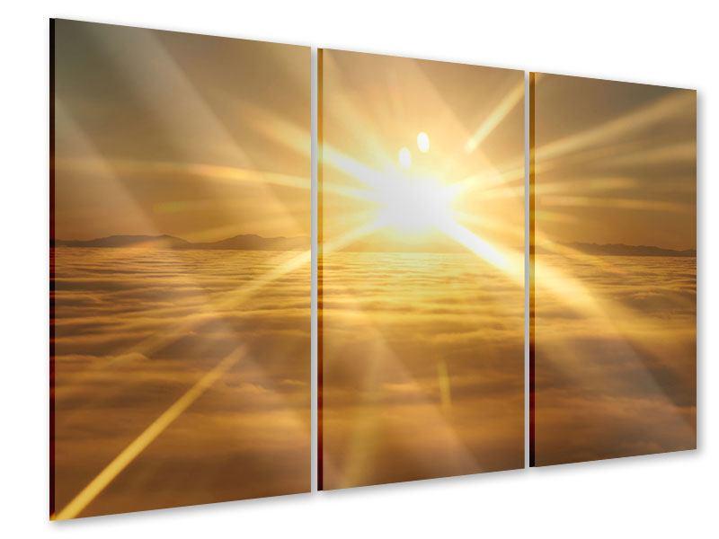 Acrylglasbild 3-teilig Über dem Wolkenmeer