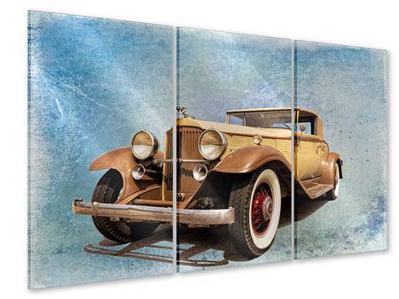 Acrylglasbild 3-teilig Nostalgischer Oldtimer
