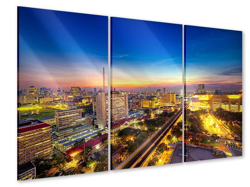 Acrylglasbild 3-teilig Bangkok