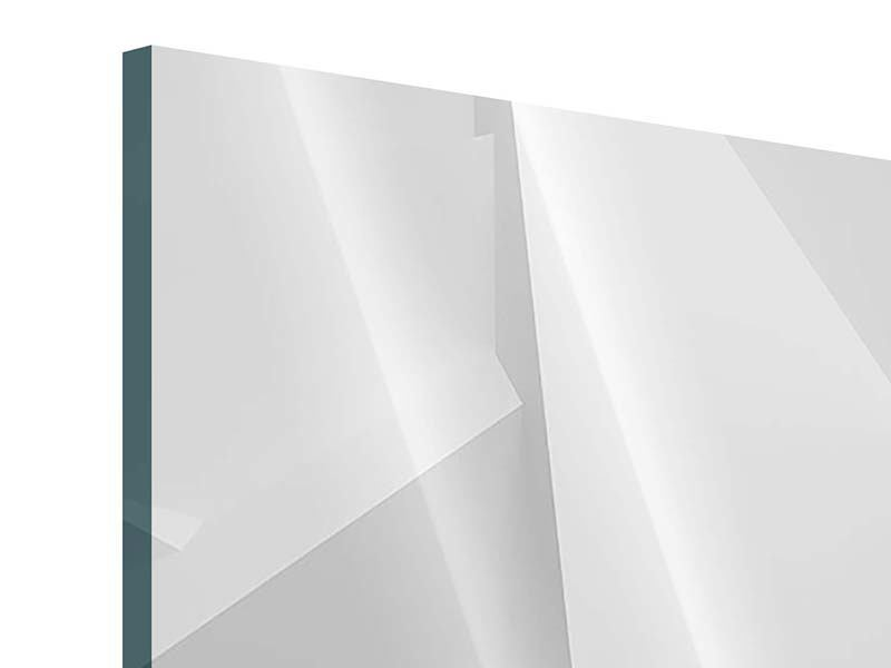 Acrylglasbild 3-teilig 3D-Raster