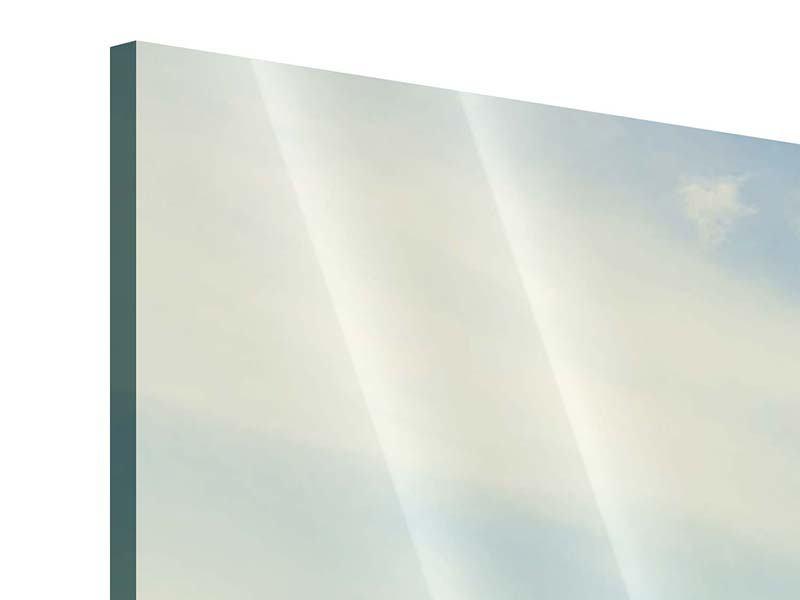 Acrylglasbild 3-teilig Bergromantik