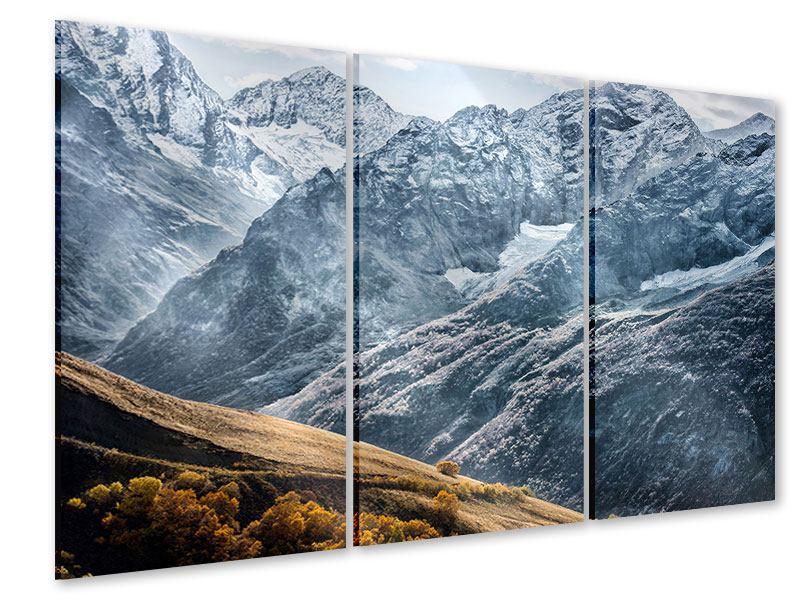 Acrylglasbild 3-teilig Gigantische Berggipfel