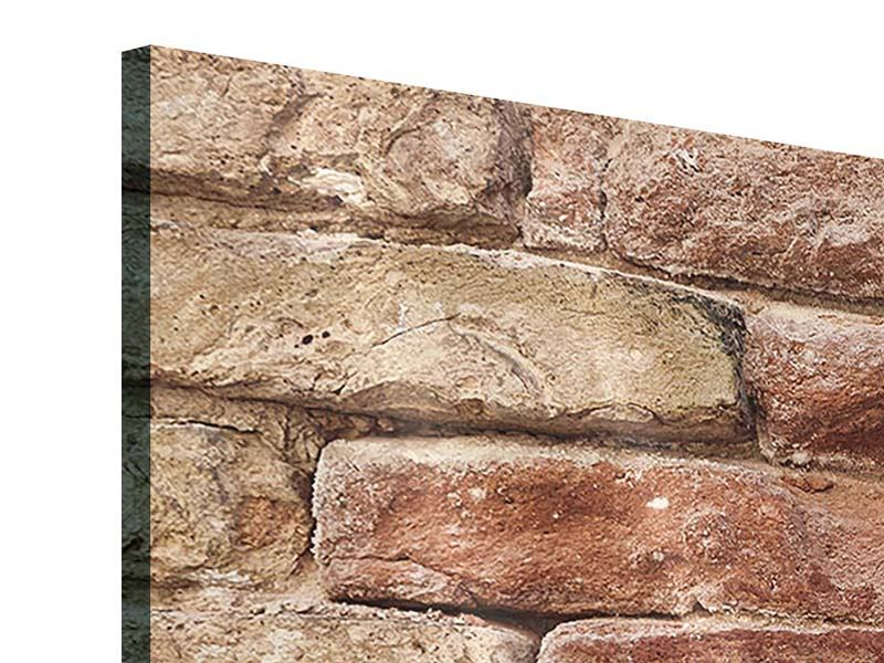 Acrylglasbild 3-teilig Loft-Mauer