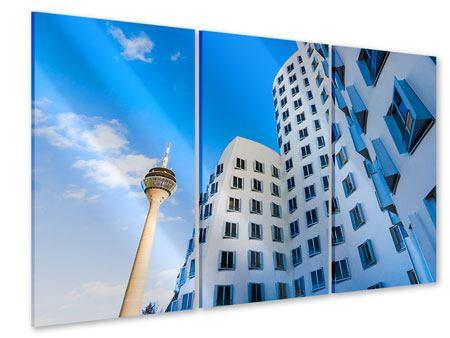Acrylglasbild 3-teilig Neuer Zollhof Düsseldorf