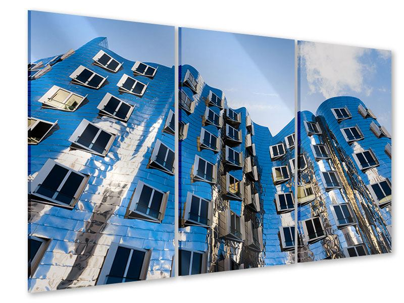 Acrylglasbild 3-teilig Neuer Zollhof