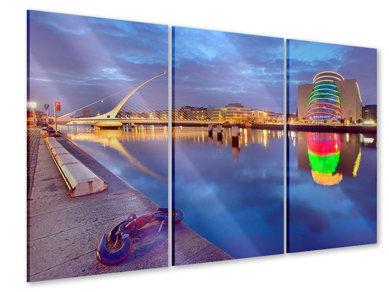 Acrylglasbild 3-teilig Samuel Beckett Bridge