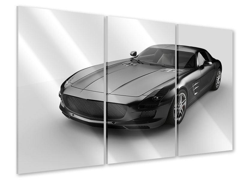 Acrylglasbild 3-teilig 007 Auto