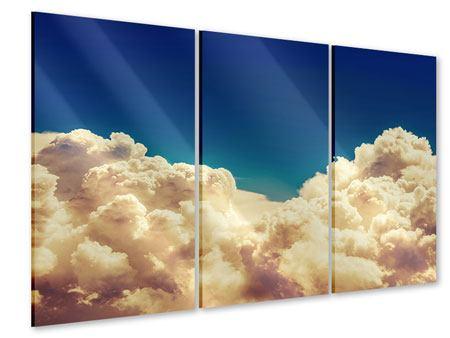 Acrylglasbild 3-teilig Himmelswolken