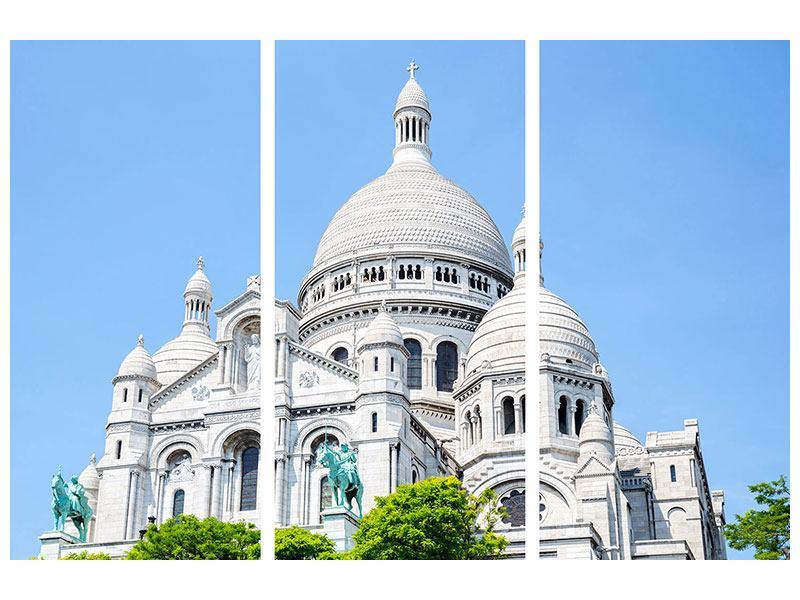 Acrylglasbild 3-teilig Paris- Montmartre
