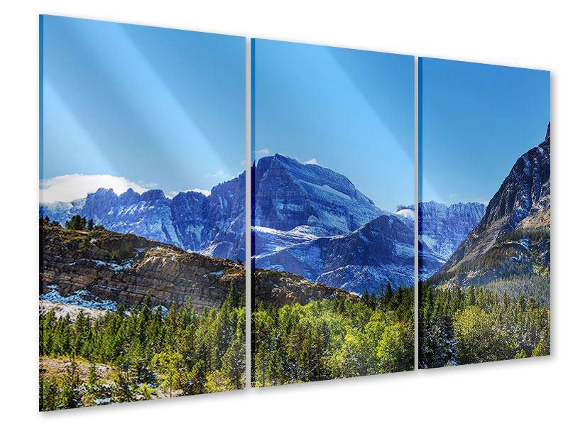 Acrylglasbild 3-teilig Dem Gipfel entgegen