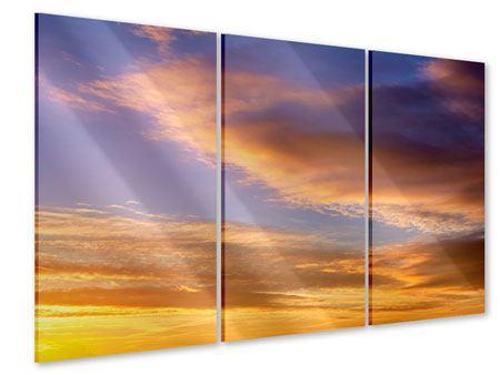 Acrylglasbild 3-teilig Himmlisch