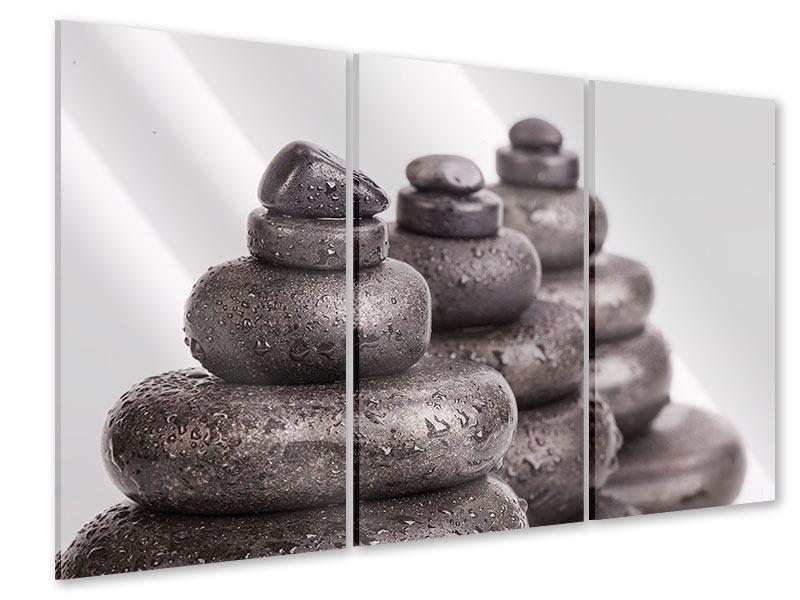 Acrylglasbild 3-teilig Die Kraft der Steine