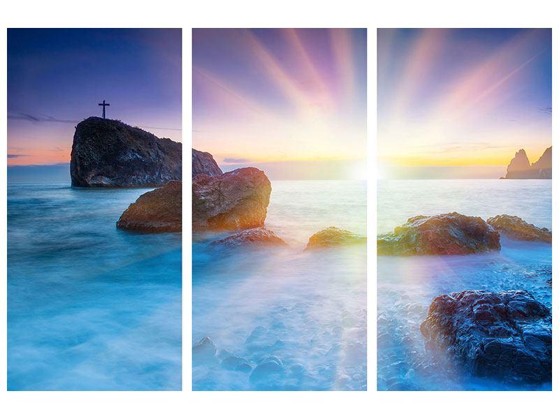 Acrylglasbild 3-teilig Mystisches Meer