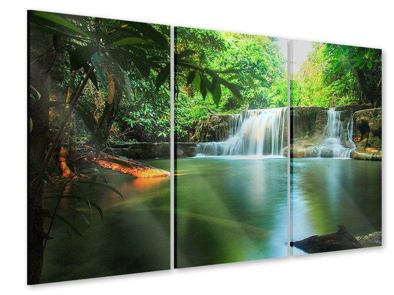 Acrylglasbild 3-teilig Element Wasser