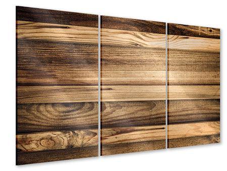 Acrylglasbild 3-teilig Holztrend