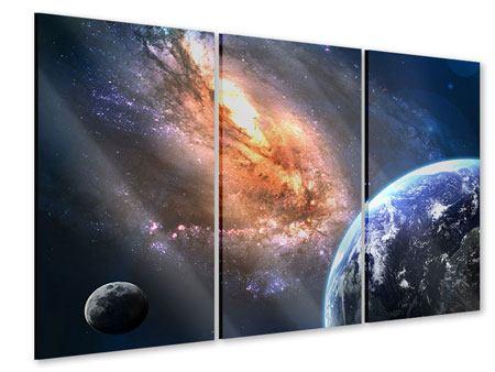Acrylglasbild 3-teilig Universus