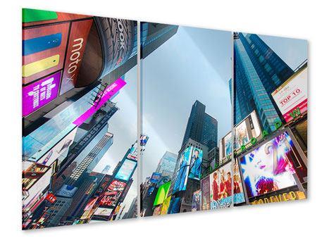 Acrylglasbild 3-teilig Shopping in NYC