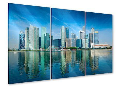 Acrylglasbild 3-teilig Skyline Mexiko-Stadt