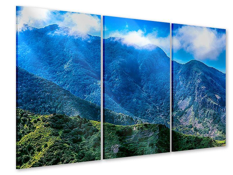 Acrylglasbild 3-teilig Die Berglandschaft