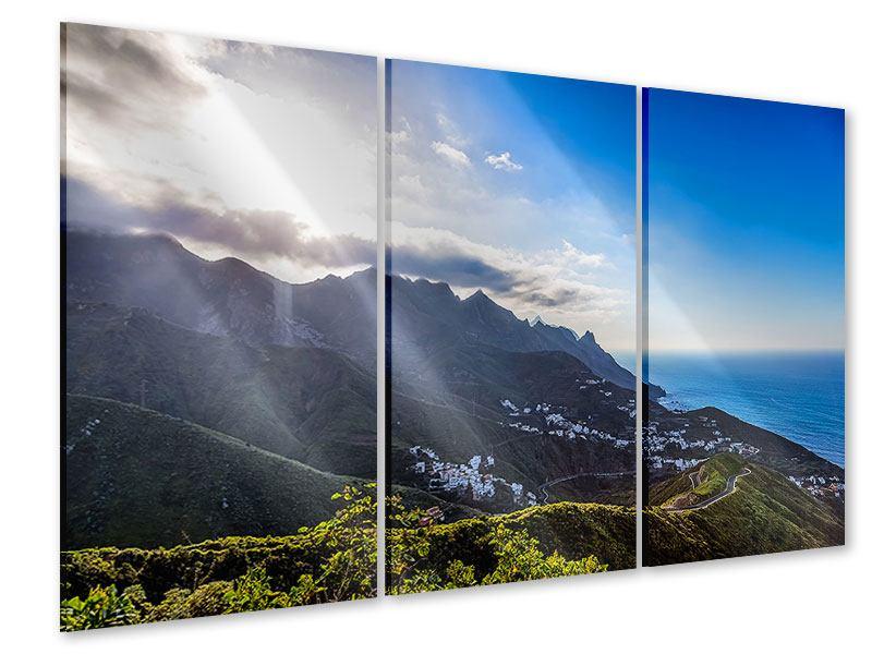 Acrylglasbild 3-teilig Der Frühling in den Bergen