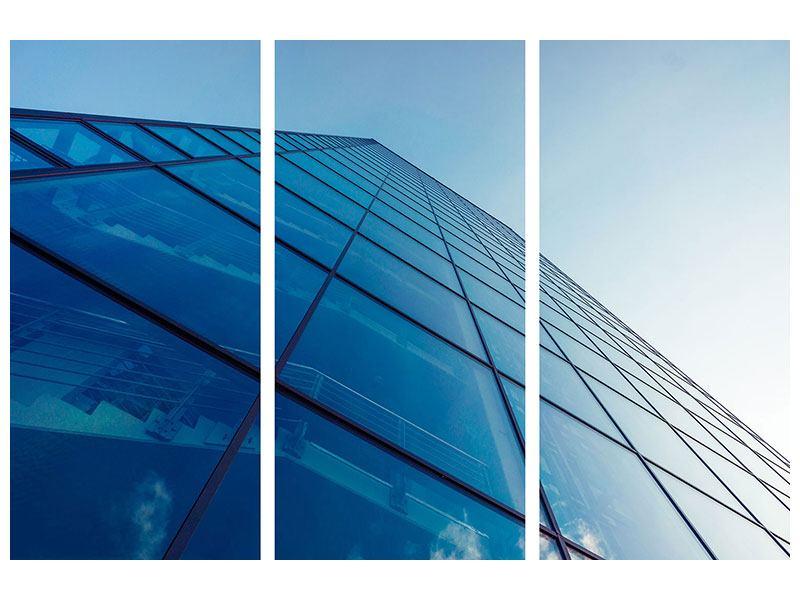 Acrylglasbild 3-teilig Wolkenkratzer-Highlight