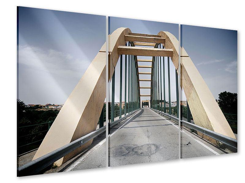 Acrylglasbild 3-teilig Imposante Hängebrücke