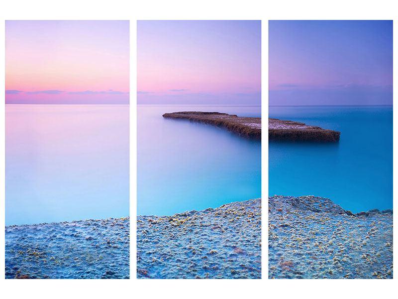 Acrylglasbild 3-teilig Unendlicher Ozean
