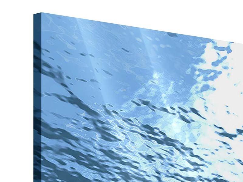 Acrylglasbild 3-teilig Sonnenstrahlen unter Wasser