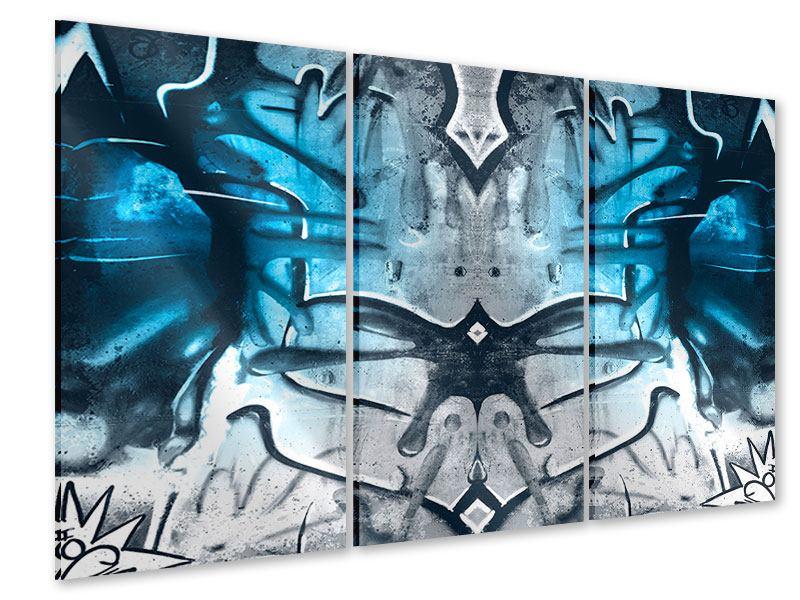 Acrylglasbild 3-teilig Painting On The Wall